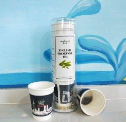 Neues Deaign konservierte gepackten Cup-Tee-englisches Frühstück-Tee in Büchsen