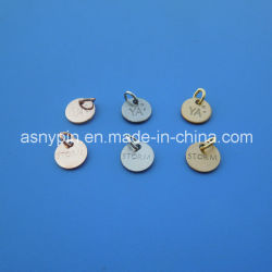 As etiquetas antigas jóias metálicas Charme