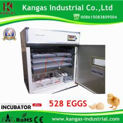 درجة الحرارة التلقائية بالكامل حضانة البيض تحمل 528 بيض الدجاج التفقس الماكينة