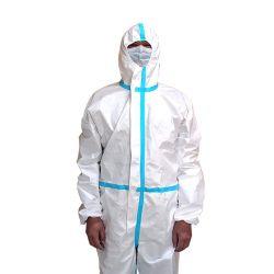雨からの低照度の保護の炎抵抗、可視性、風邪、化学薬品または切口および摩耗のHazmatの使い捨て可能な防護衣