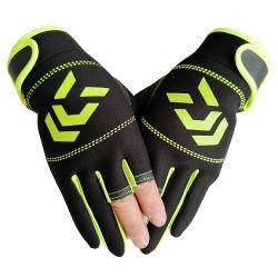釣手袋の冬の方法適性の暖かさ3指半分指は手袋を遊ばす