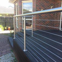 簡単なフロアーリングの取付けられ、ステンレス鋼バルコニー/ステアケース/屋外のデッキの柵のための物質的なケーブルの柵