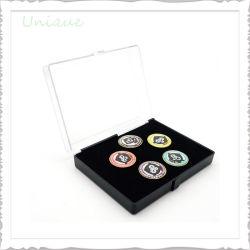 Portamonedas acrílico cápsulas, Caja de plástico transparente de PVC para la medalla, el desafío de moneda, una Insignia Insignia de solapa caso, la Barra de unión/Cufflink Caja Caja de regalo