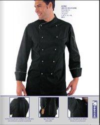 precio de fábrica al por mayor negro de algodón Camisa uniforme de Chef