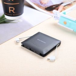 Super Slim портативное зарядное устройство беспроводной связи для мобильных телефонов с аккумулятор