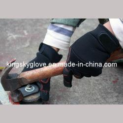 Верх из синтетической кожи механик работы рукавицы черного цвета прибора вещевого ящика