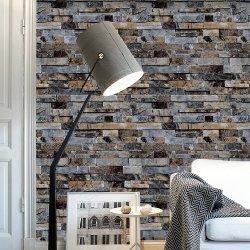 Guangzhou Stock la decoración del hogar artículos de ladrillos de papel tapiz en 3D.