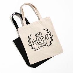 カスタム昇進のギフト袋のEcoの友好的で再使用可能な買物袋の布は袋100%の自然な綿袋のドローストリング袋の食料品の買い物のトートバックのキャンバスのハンドバッグを運ぶ