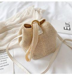 Gras-Gestrickte Euro-Amerikanische Dame Leisure Hand-Knitted Bag der Handtaschen-2019