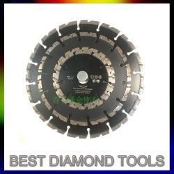Asfalto del Turbo della lamierina di taglio del diamante/laser concreto