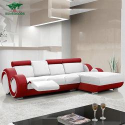 Nouveau Luxe en cuir véritable forme de L coin chambre à coucher Mobilier de maison Canapé-Set