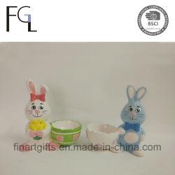 부활절 귀여운 토끼 세라믹 계란 홀더