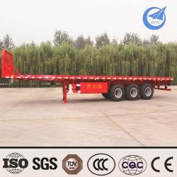 Dei 3 assi 30-35 di tonnellata di contenitore di trasporto rimorchio a base piatta basso semi