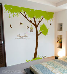 Impresión Digital hecho personalizado resistente al agua de la pared decoración adhesivo para el hogar