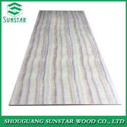 가구 (문, 침대를 위한 보통 UV PVC에 의하여 박판으로 만들어지는 멜라민 MDF E0/E1/E2 질 양면 직면된 목제 곡물 색깔. etc.는), 마루, 훈장을 박판으로 만든다