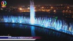 Fonte de música de dança ao ar livre fonte no Anka Park a Turquia