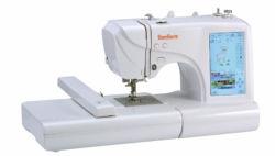 Bordados e máquinas de costura de uso doméstico