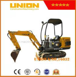 Preço barato usado da mini máquina escavadora de Yuchai 1.6tons
