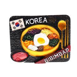 Imán de nevera de resina coreano turistas Souvenirs Imanes de nevera en 3D.