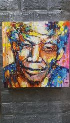 顧客用人間の肖像画のマンデラの油絵