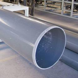 Ronda personalizada para alta temperatura de 4 pulgadas de diámetro grande plástico de PVC Tubo de drenaje Tubo de 1/2 pulgada.