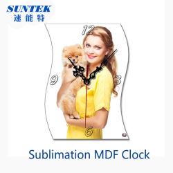 Relógio de MDF de sublimação em branco para impressão de Transferência de Calor
