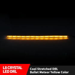 Aluguer DRL fluindo tira de LED de luz da sinaleira direcional do carro de faróis das luzes de nevoeiro da retaguarda LED âmbar/Branco DRL