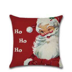 연약한 채워진 즐거운 성탄 견면 벨벳 리넨 산타클로스 베개 방석 덮개 소파 장난감