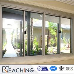 Conch Brand UPVC/VIDRO CORREDIÇO DE PERFIL PVC janela de plástico com isolamento duplo de baixa e copo
