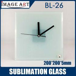 고품질 승화 시계 200*200*5mm Bl 26를 가진 유리제 사진 프레임