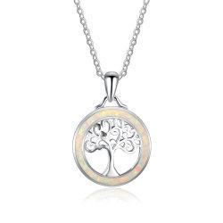 新しい方法デザイン宝石類の系譜のOpalネックレスの銀の宝石類