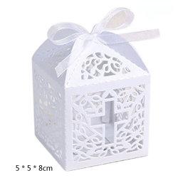 リボン党装飾が付いている結婚式キャンデーボックス菓子のギフトの好意ボックス
