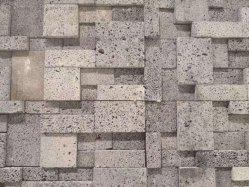 지면 도와를 위한 질 보통 크기 회색 성격 건물 용암에 의하여 경작되는 돌