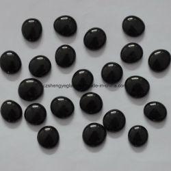 La décoration de couleur noire ronde Plate Crystal perles de verre