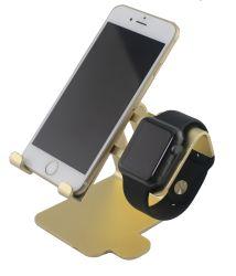 Suporte universal do carro do telefone de pilha da cor nova do ouro do projeto 2017 para o telefone e o relógio do telefone