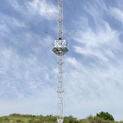 Monopole Aufsatz der Antennen-Gitter-Telekommunikations-Kerl-Mast-Aufsatz-Stahlgefäß-Telekommunikation galvanisierter dreieckiger Mikrowellen-Antennen-5g Guyed