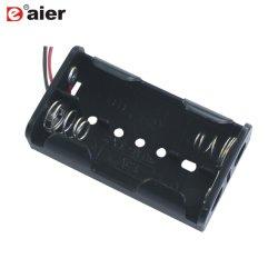 El plástico 3V 2la posición 2 pila AA Titular con cables