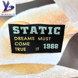 Straight Cut Laser Cutting Factory Price Custom Cotton Woven Label Kledingaccessoires
