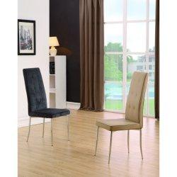 Mesa de jantar Estofados cromado moderno cadeira de escritório