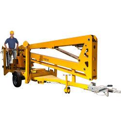 Sollevamento del braccio idraulico rimorchiabile da 14 m montato sul rimorchio utilizzato per Raccoglitrice di ciliegie