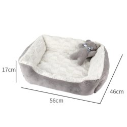 Le Pet Kennel Cat Kennel Teddy Samoyède doux et confortables en velours de l'automne et hiver plus profond sommeil Dog House Amaw-0115