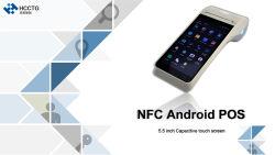 4G Wireless GPRS NFC móvil Android portátil Terminal POS Qr Hcc-Z91