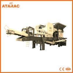 stazione di schiacciamento mobile di pietra 50-800tph per estrazione mineraria e costruzione (TD100)