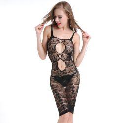 Het sexy Ondergoed van het Visnet van de Vrouwen van de Kleding van de Lingerie Babydoll van het Netwerk van de Lingerie Holle Erotische
