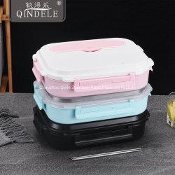 Inventário Estanque Amiga 1.6L COMPARTIMENTO 3/4 304 aquecida em aço inoxidável Almoço Bento Caixa para as crianças/adultos/Idade
