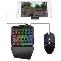 [بلوتووث] لاسلكيّة 4.2 صيغة أحد يد [موبيل فون] لعبة لوحة مفاتيح متحرّك لعب لوحة مفاتيح فأرة مجموعة