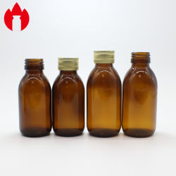 Amber Galss bouteilles pour le sirop DIN PP28mm