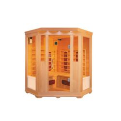 Stanza di sauna di Infrared lontano del Hemlock del Canada di sauna di Joda per 3-4 genti Qd-C3c