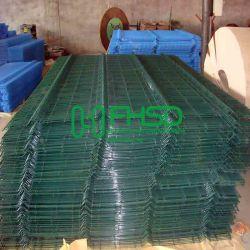 Wire Mesh clôture Double/Twin revêtus de PVC sur le fil 868 clôture Panneau/Twin de couleur verte ou noire sur le fil double tige Le fil le grillage de séparation
