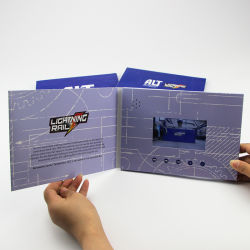 3D Audio-LCD Bildschirm-videobroschüre-Gruß-Karte für Geschäft